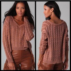 Textile Elizabeth and James Cable Knit Sweater